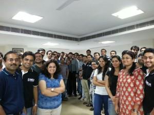 Addressing Executive Batch Students at MDI Gurgaon