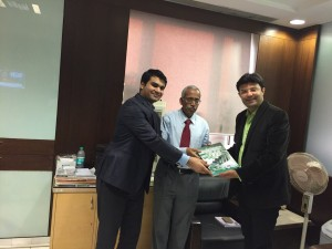 Invited by RBI Executive Director Sh. G Mahalingam, and presenting the Book
