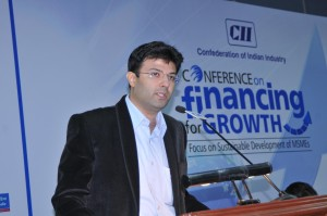 Speaking on Innovative Financing for robust and sutainable growth in Indian economy at CII Forum