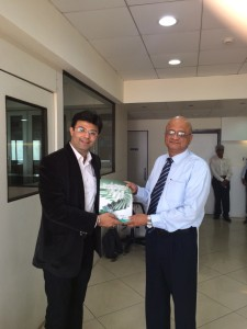 Invited by FEDAI Chairman Sh. Patwardhan, and presenting the book