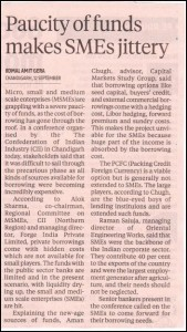 Aman Chugh's comments covered in Business Standard