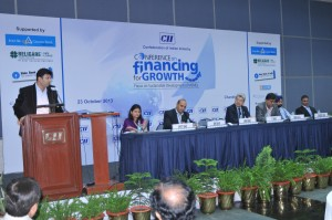 Invited as a key Speaker on CII and sharing the stage with Executive Director Canara Bank Mr Rawat  & Head North NSE Ms Khayati Shah
