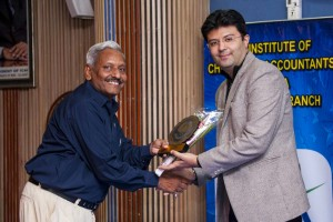 Being Honoured by Chairman of ICAI Branch at Ahmedabad