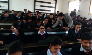 Handholding Students at Chitkara Engineering College on Financial Courses at Himachal Campus
